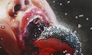 marilyn-minter, POP ROCKS, 2009, enamel on metal.